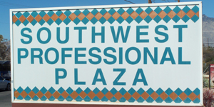 Southwest Professional Plaza sign